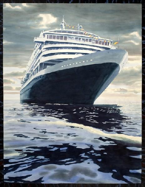 Cruise Ship in Amsterdam