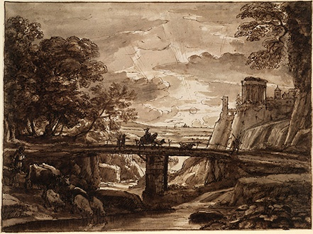 Claude Lorrain Landscape Drawings from the British Museum at the Clark - Image 6