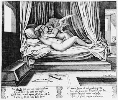 amor and psyche. Amor and Psyche in Bed