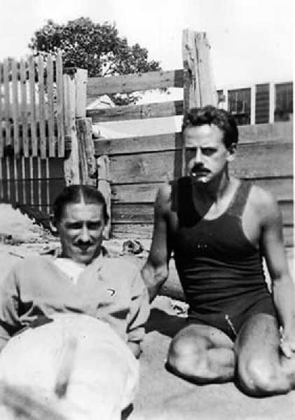 The artist Charles Demuth and Eugene O'Neill in Provincetown.