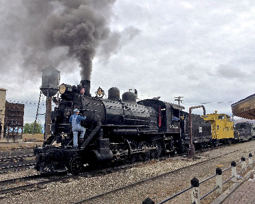 The classroom is on the tracks during the Nevada Northern Railway Museum's Railroad Reality Week in Ely.  PHOTO CREDIT: Courtesy Nevada Northern Railway Museum.
