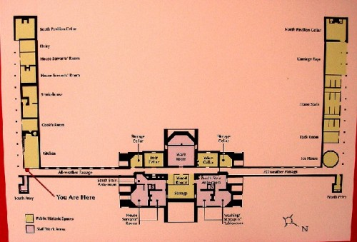 Thomas jefferson 39 s monticello berkshire fine arts for Monticello floor plan