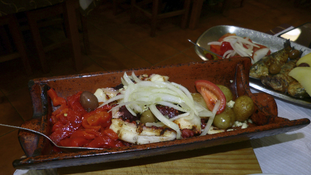 I had grilled octopus.