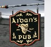 Pub Sign for Aidan's Pub in Bristol, RI where Betty Anne Waters Works, Photo by Geo. Abbott White