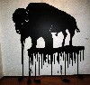 A dripping buffalo by Terrence Houle.