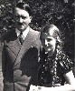 Hitler with his half niece Geli who lived with him for several years.