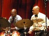 Drummers left, Ulysses S. Owens, Jr., and Ali Jackson were having a good time.