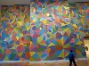 "A ""temporary"" site specific wall design by the late Sol LeWitt."