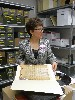 Archivist Lisa Lobdell presides over the growing collection.