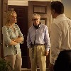 Woody directing Cate Blanchett and Alec Baldwin on the set of Blue Jasmine.