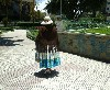 Andean woman in the park