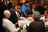 Obama enjoyed a family style lunch.