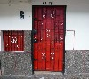 Door in upscale neighborhood, Medellin