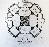 Plan of the main floor of Sloan's design for Longwood.
