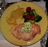 The stroganoff was switched for chicken cordon bleu.