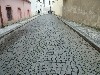 Patterned cobblestone road
