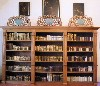 Rare books in display case