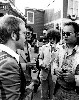 Charles Giuliano in Hollywood with Elton John. Al Kooper and reporter David Felton listening in.