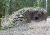 Camouflaged World War II bunker