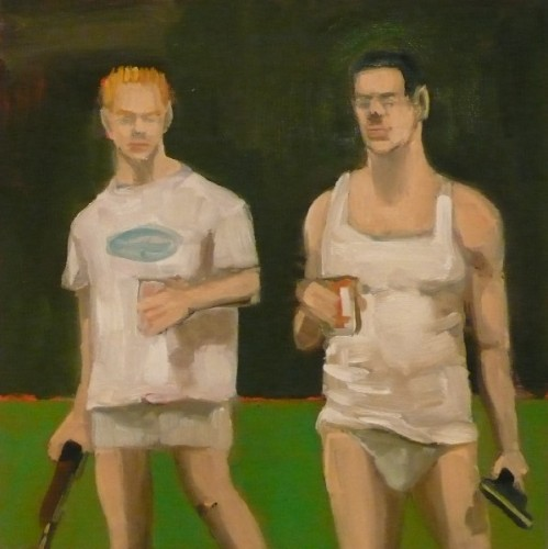 Shooters, oil on panel, 2010