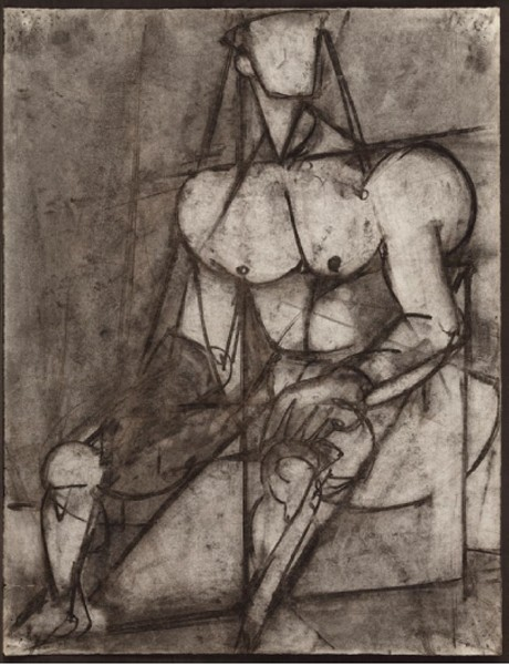 Male Cubist Figure, Seated