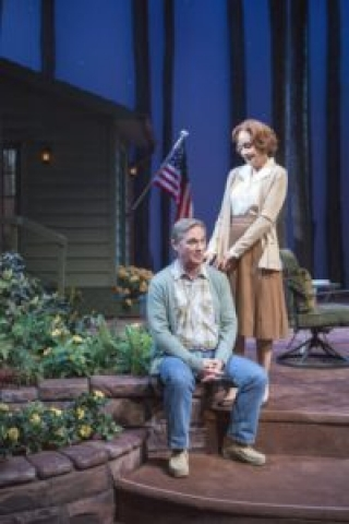 Richard Thomas as Jimmy Carter and Hallie Foote as Rosalynn Carter.