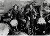 Ellington and his early band The Washingtonians with Sonny Greer on drums.