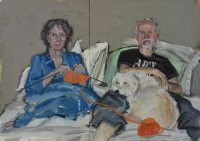 Self-portrait with John and Alice - by: Laura Chasman